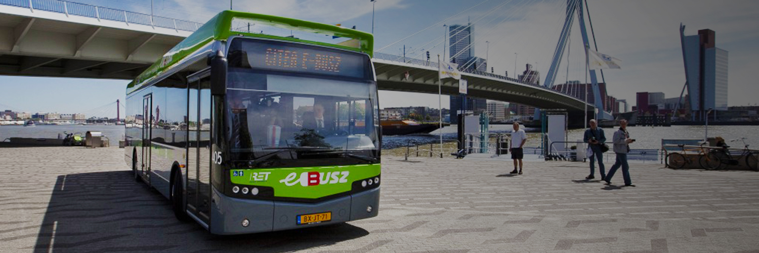 Zero-emission bus monitored with ViriCiti's electric vehicle telematics software.